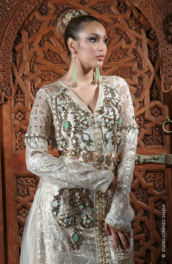 Caftan Haute Couture Fouzia Naciri - Création Blanc 1