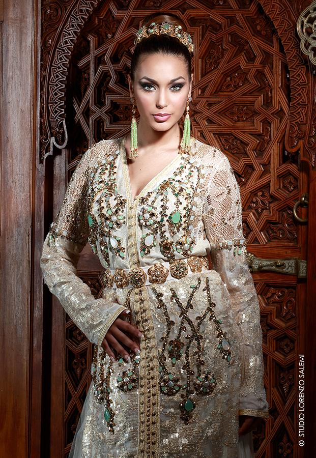 Caftan Haute Couture Fouzia Naciri - Création Blanc 2