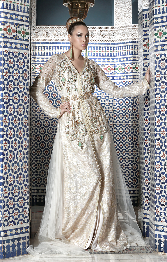 Caftan Haute Couture Fouzia Naciri - Création Blanc 3