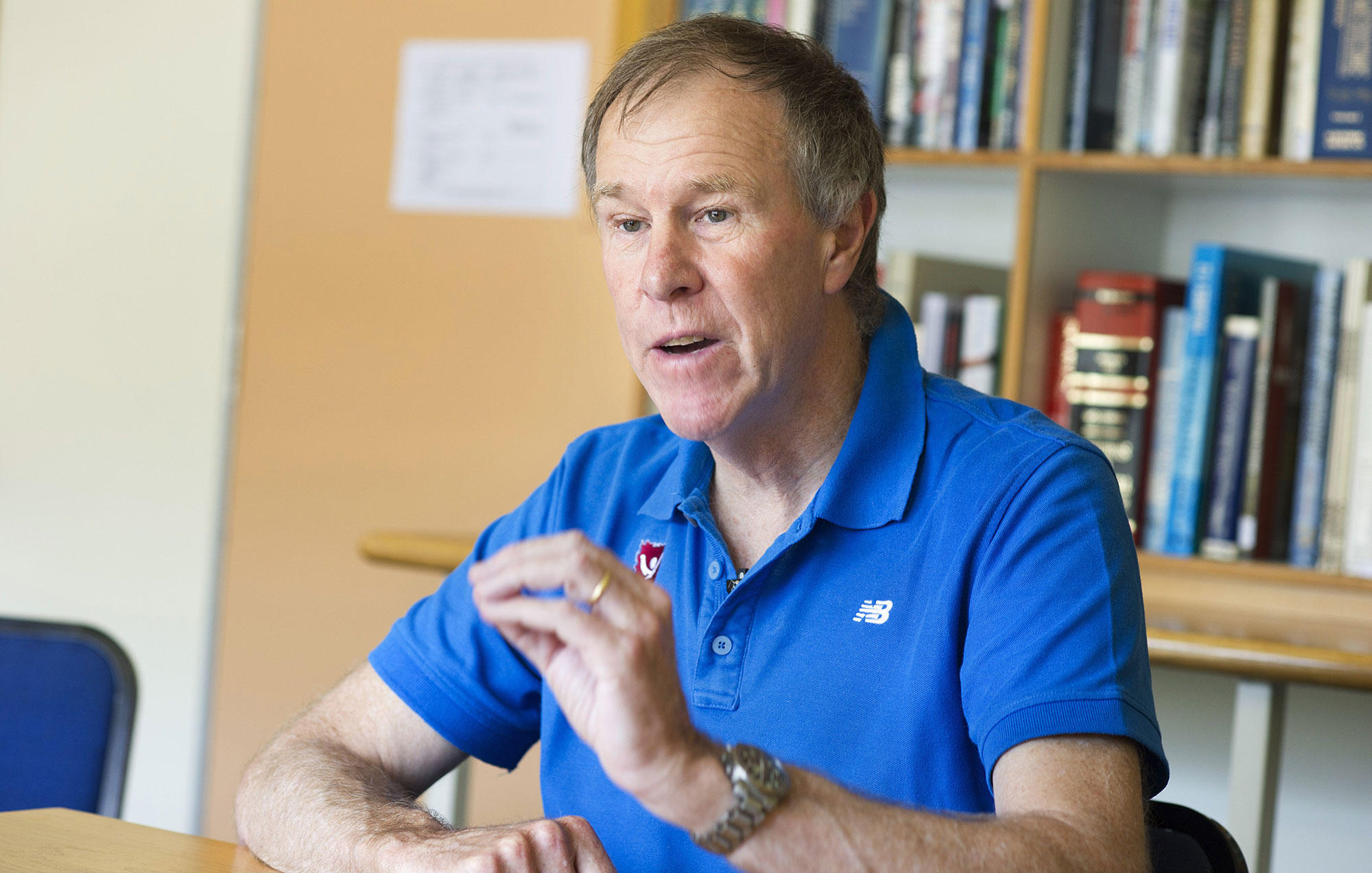 Tim Noakes as evidenced in this picture, may be thin but has a high percentage body fat.