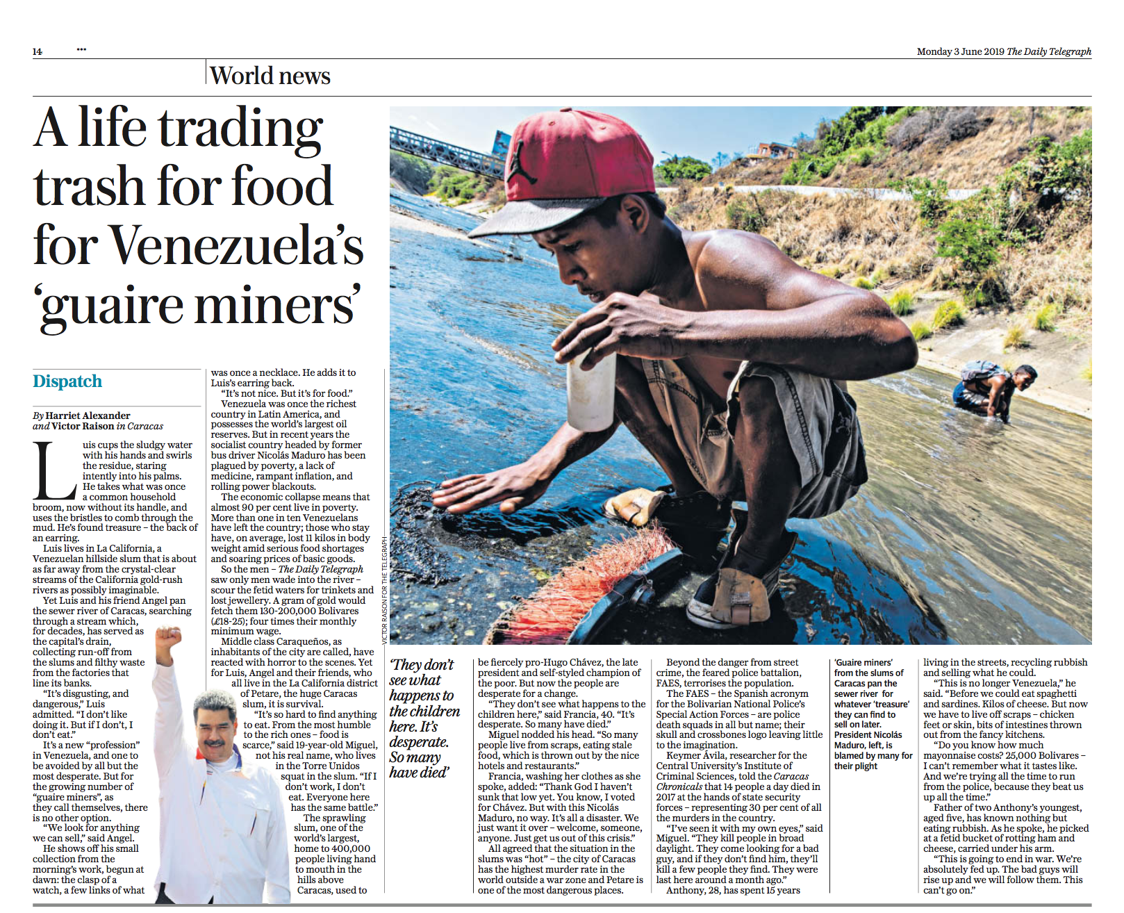 Report in Venezuela For the Daily TELEGRAPH