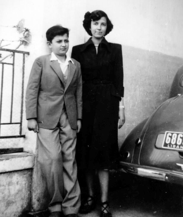 young Mahmoud Kahil and his eldest sister