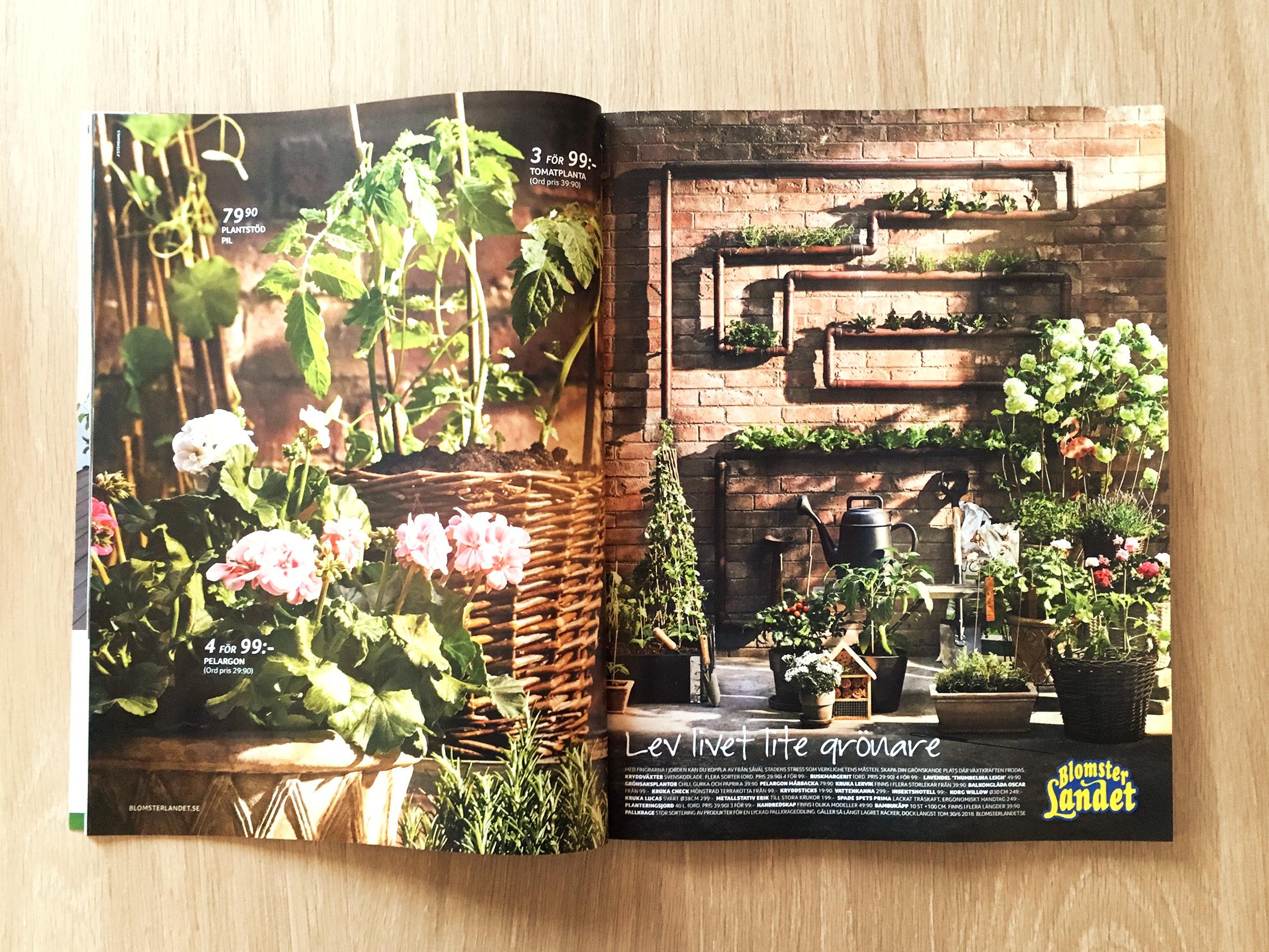 Blomsterlandet Annonser Studio Mint retusch
