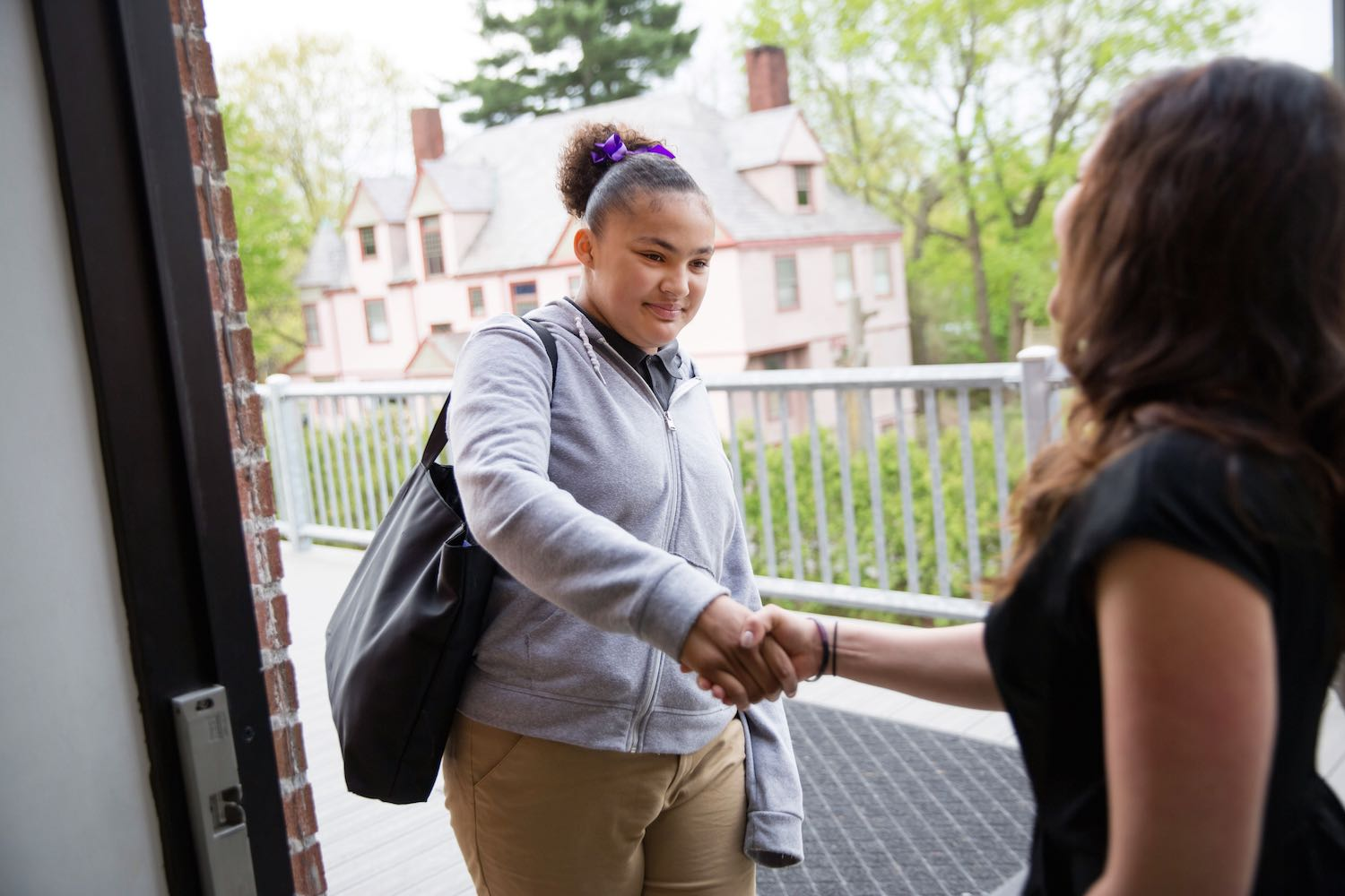 7:20  –  ARRIVAL & MORNING WORK  Scholars are greeted at the door with a handshake and a uniform inspection before eating breakfast. During this time, scholars will also complete morning work to get their brains warmed up for the day to come!