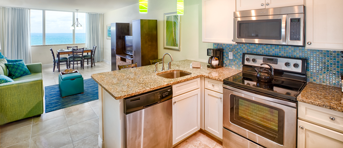 Kitchen and Living Area - Hollywood Beach Towers.jpg