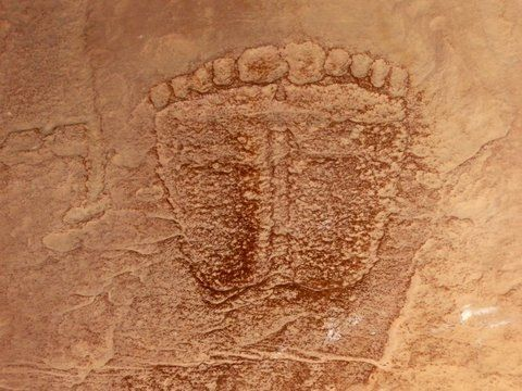 Rock Carving, Wadi Rum