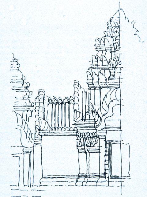 Angkor detail, Cambodia