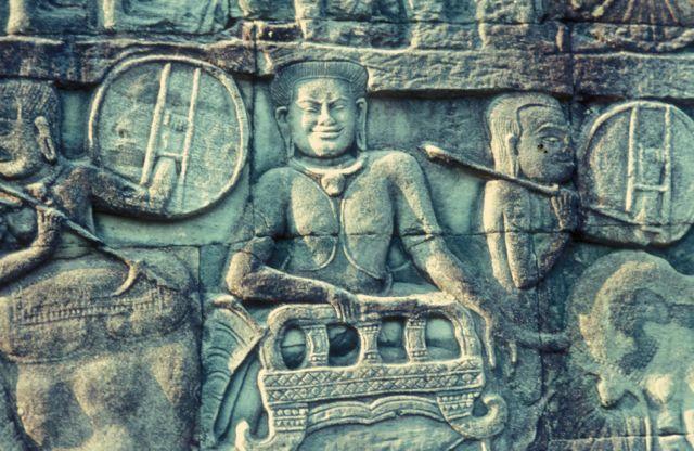 Bas relief, Angkor Thom, Cambodia
