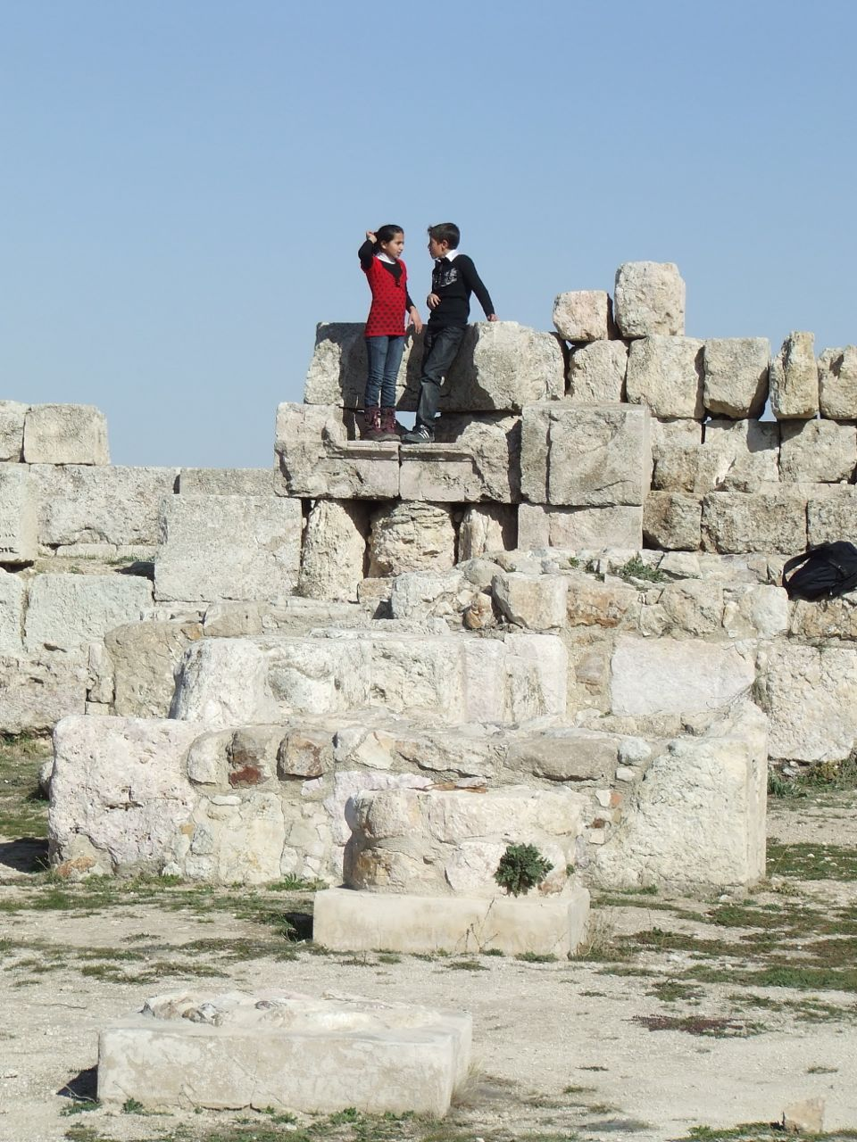 Tourism at the Citadel, Amman, Jordan