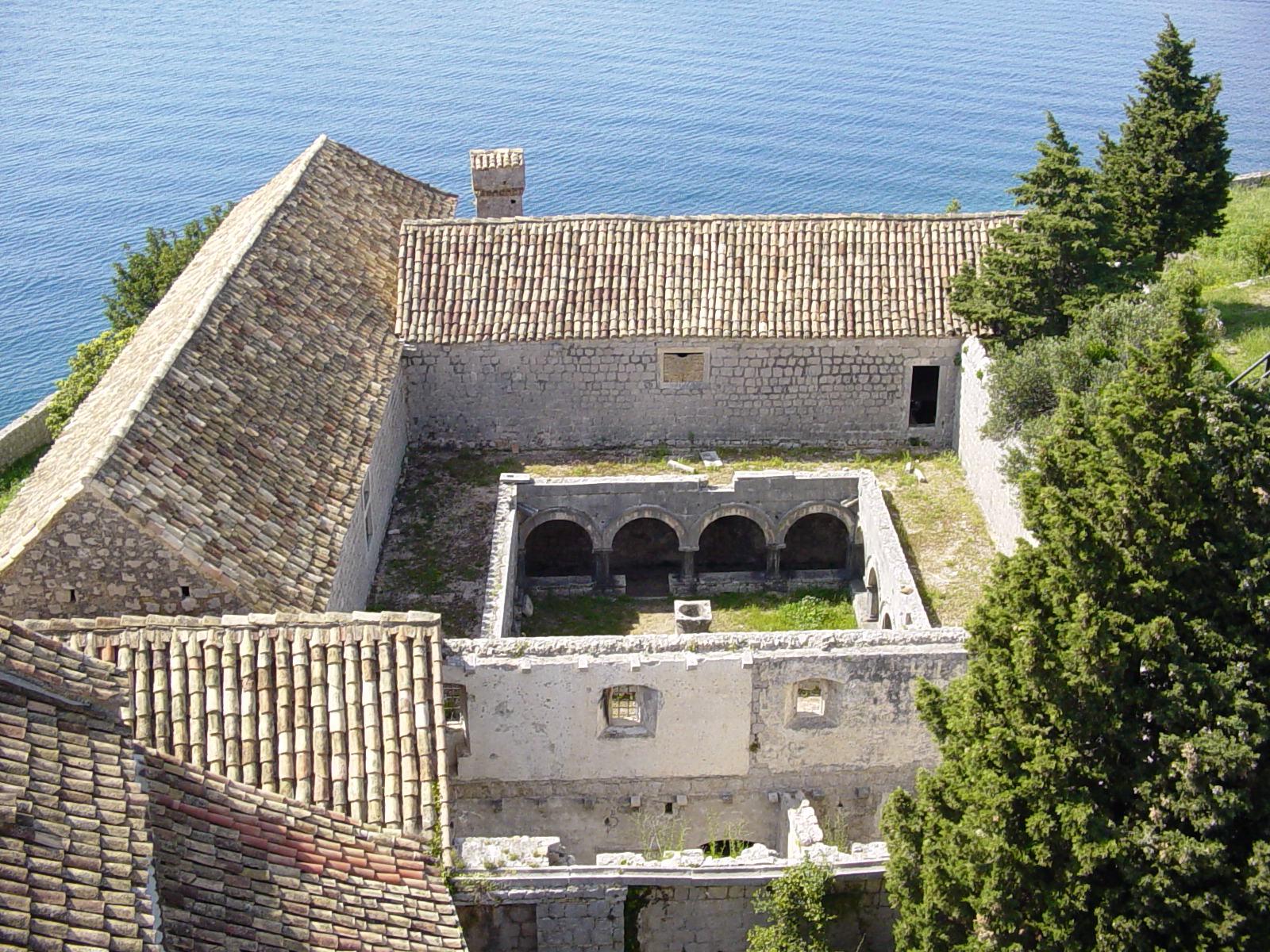 Pre-conservation, Cloister, Lopud Island, Croatia