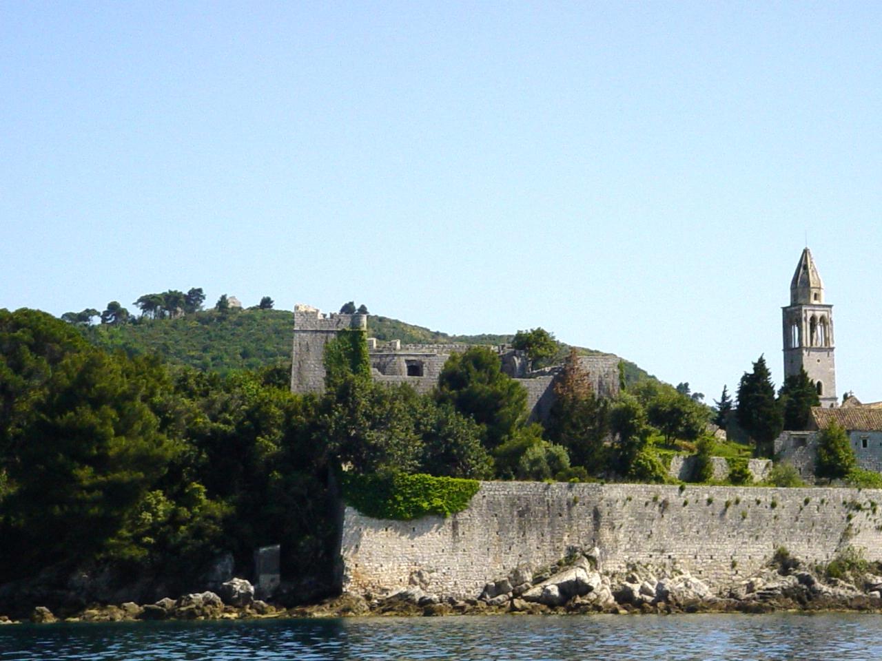 Monastery Seawall, Lopud Island, Croatia