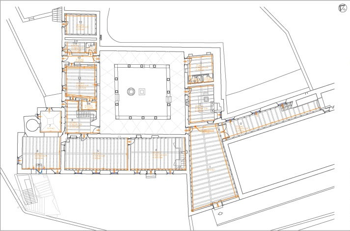 Site plan, Lopud Island Franciscan Monastery, Croatia