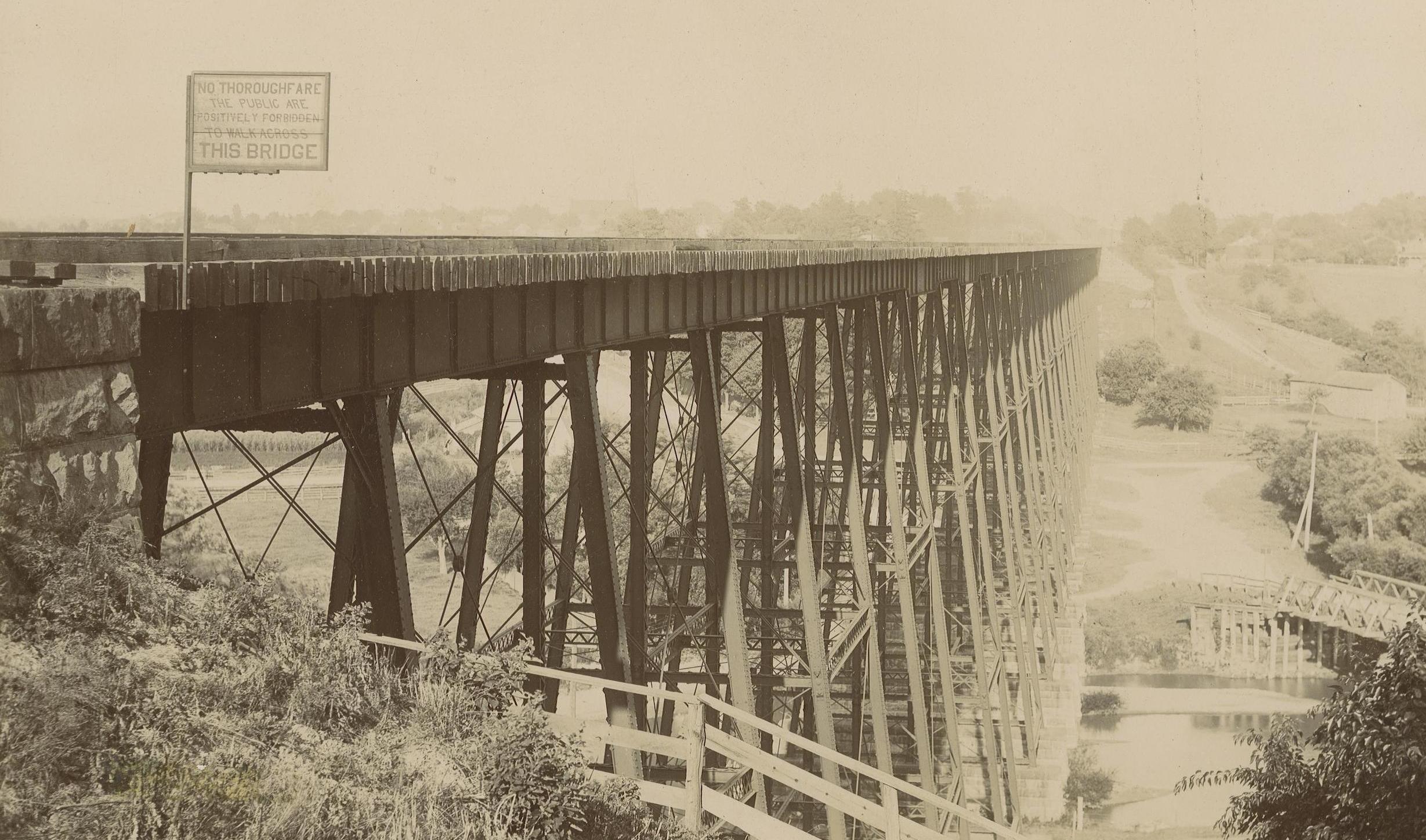 Metal double wide trestle built 1883