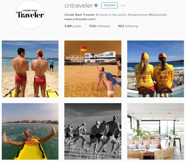 North Bondi SLSC worked with Condé Nast Traveler and did a takeover of its Instagram account to commemorate Australia being awarded top destination for 2016. The media deal was managed by DL COMMS and gave exposure to 722,000 people! The world's most read travel magazine worked with 30 iconic Australian organisations and influencers over the month of January.  Engagement: 30,000 likes 660 comments Below are the images used to showcase surf lifesaving to the world!