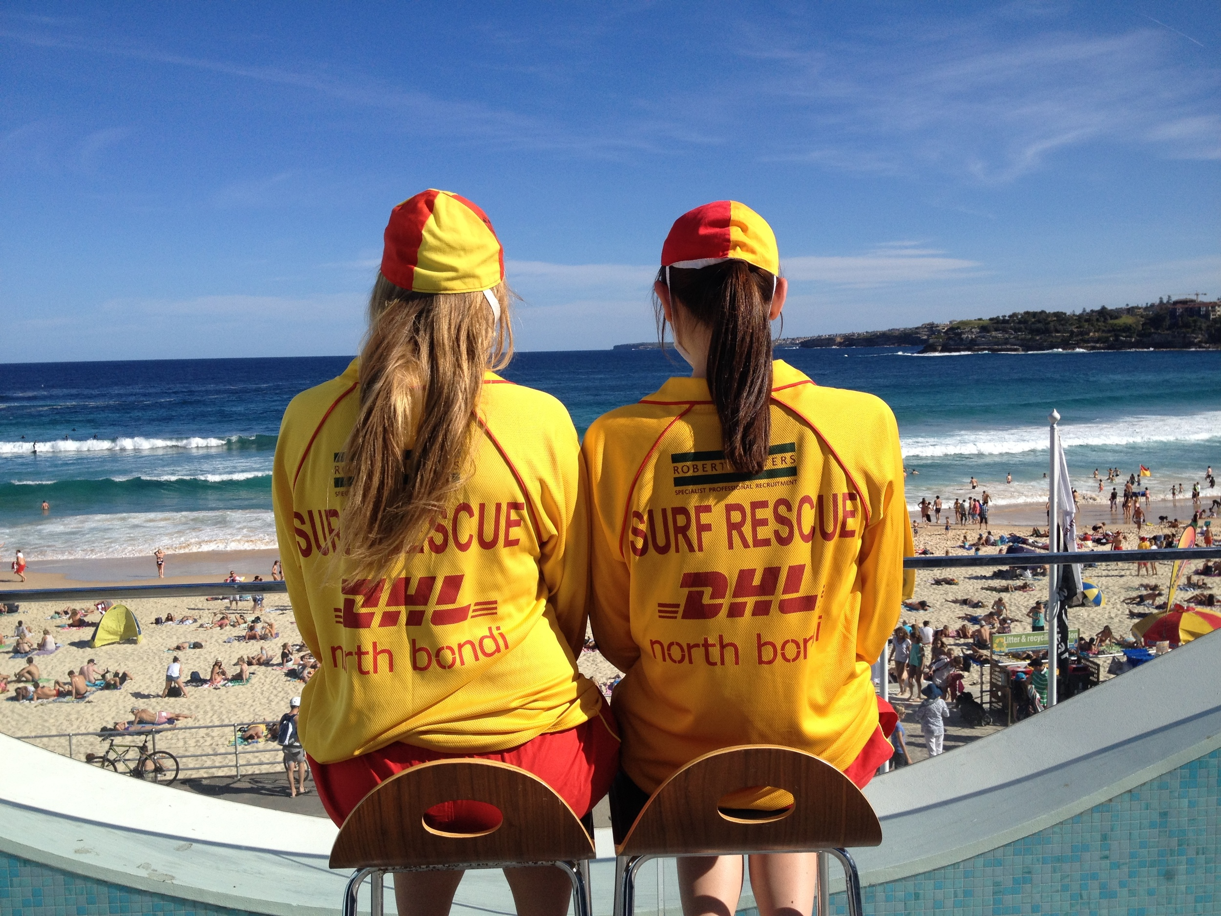 On a busy Summer's day, more than 50,000 people can flock to@northbondislsc Beach. To get the best view, our volunteer lifesavers are perched high, ready to alert their Patrol Captain if an incident arises in the distance.#northbondi #bondibeach Pic: Drew Lambert