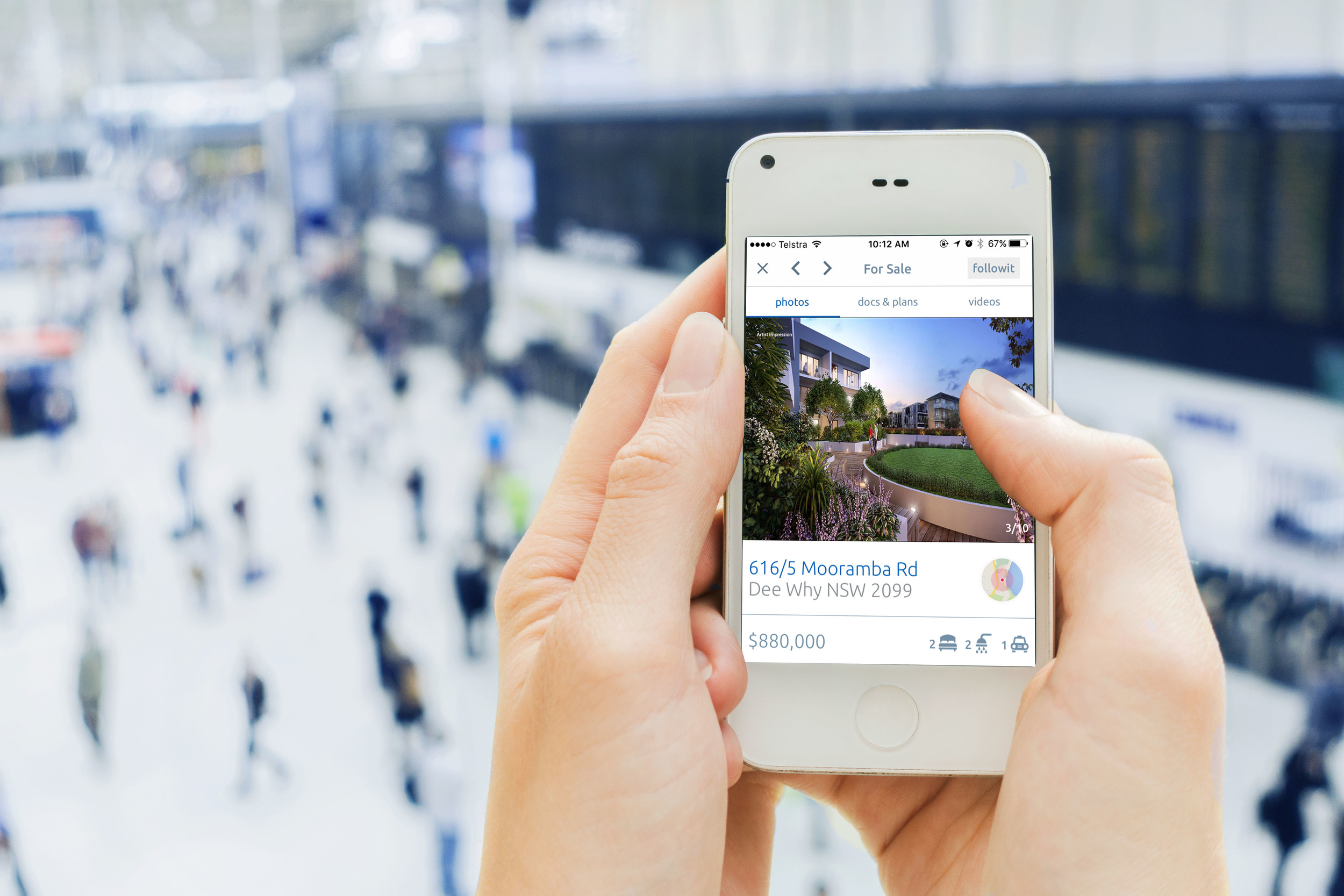 A new Australian app promising to change the way Australians interact with real estate listings is set to launch nationally under the guidance of a former Facebook and Amazon executive.  followit, an app and desktop platform that gives users a push notification whenever a property they're interested in is on the market, is backed by Macquarie Bank. Most major Australian real estate firms, including, LJ Hooker, Century 21, and Belle Property have already signed on.  Real estate coach and followit executive director Michael Sheargold describes it as a live communication platform for the real estate industry and consumers.