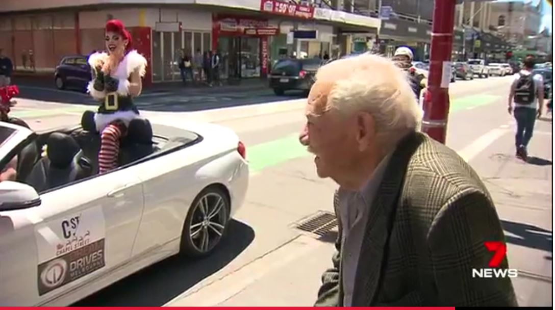 While the substitute won't be a drag, they will be in drag.  It's a display of both naughty and nice and it's bringing traffic to a standstill and turning the heads of many shoppers on the shopping strip.  Usually Old Saint Nick would visit the popular shopping district, however Chrissie Maus of Chapel Street Precinct Association told 7 News it was time for a change.