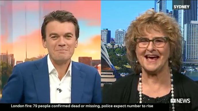 """Filmmaker Gillian Leahy appears on ABC News Breakfast to discuss her new """"dogumentary"""" Baxter and Me.  Gillian Leahy in her newest documentary,BAXTER AND ME, raises the question of who really owns who in this heartwarming documentary.Dogs have been associated with humans for millennia, Gill's idiosyncratic, honest and, indeed, """"dogged"""" examination of her relationships – both canine and human – raises questions about how we relate to the """"wild"""" in dogs as well as to the other (two-legged) animals that inhabit our world.  BAXTER AND ME will be released in cinemas across Australia via Demand Film:www.demand.film."""