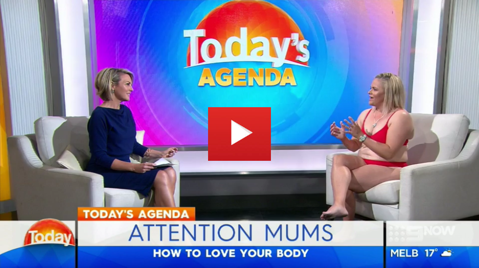 In Today's Agenda body image campaigner Taryn Brumfitt reveals how she learnt to love her appearance after having a baby and what she's doing to help other mums feel better about their bodies.