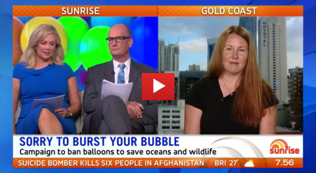 A Gold Coast mum is on a mission to ban helium balloons to help the environment. Click here to find out more about the 'Rubber Jellyfish' film.