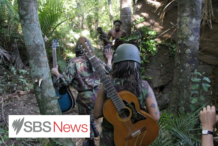 An Anzac peacekeeping mission to Bougainville in the wake of the tiny Pacific Island's savage civil war is finally getting recognition for its efforts to bring order - with guitars instead of rifles.  Bougainville was devastated by the decade-long conflict during the 1990s, which claimed at least 20,000 lives - or almost one-sixth of the population - and required the intervention of a multi-nation peacekeeping force.  Australian and Kiwi troops have proudly served as peacekeepers, in conjunction with the United Nations, around the world. But this tour of duty was slight different: the troops were unarmed, on the advice of New Zealand Army Brigadier Roger Mortlock.