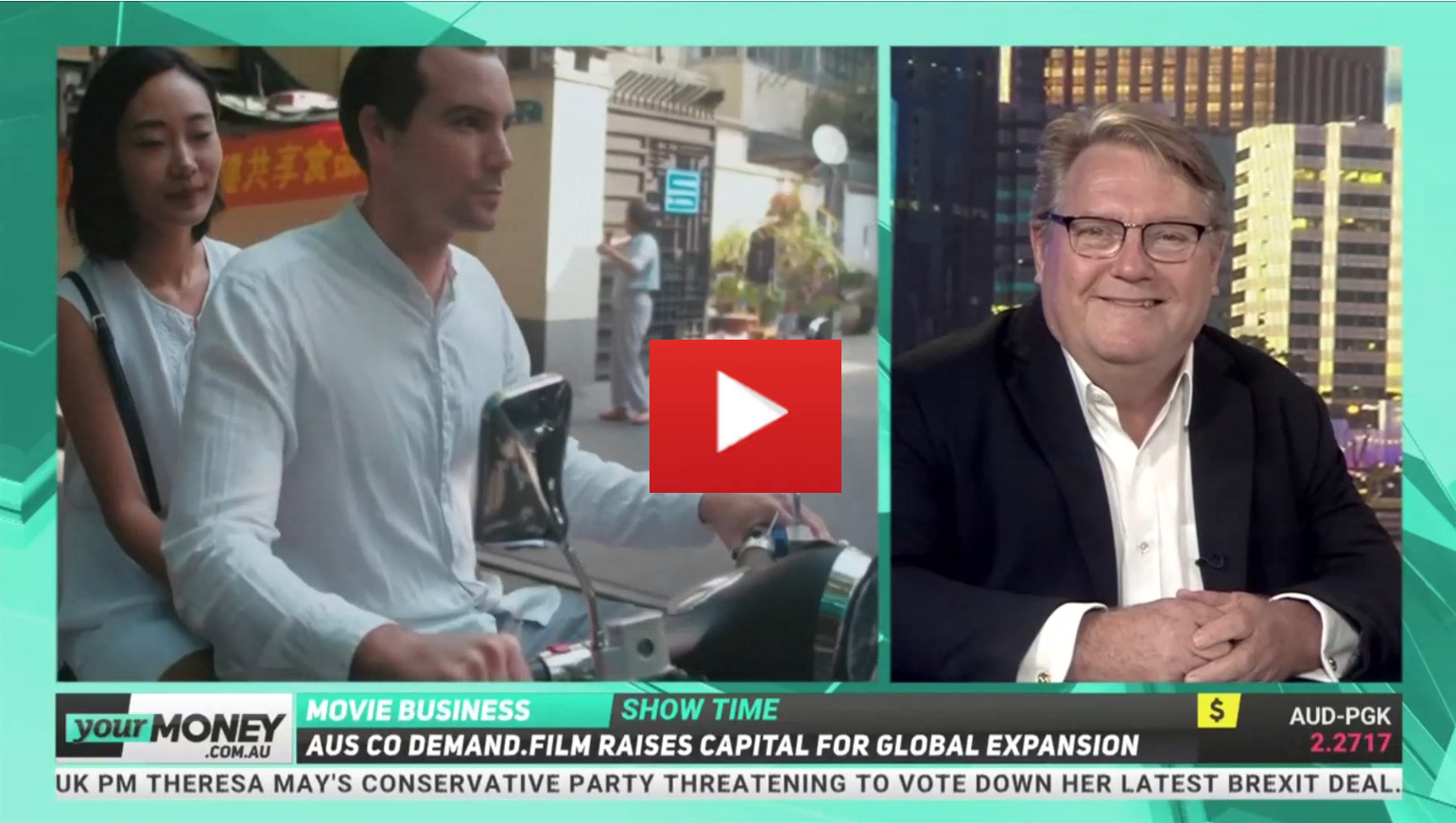 David Doepel CEO of Demand Film talks with Brooke Corte from YOUR MONEY  about Demand Film and the equity crowdfunding model and its partnering  with Birchal.
