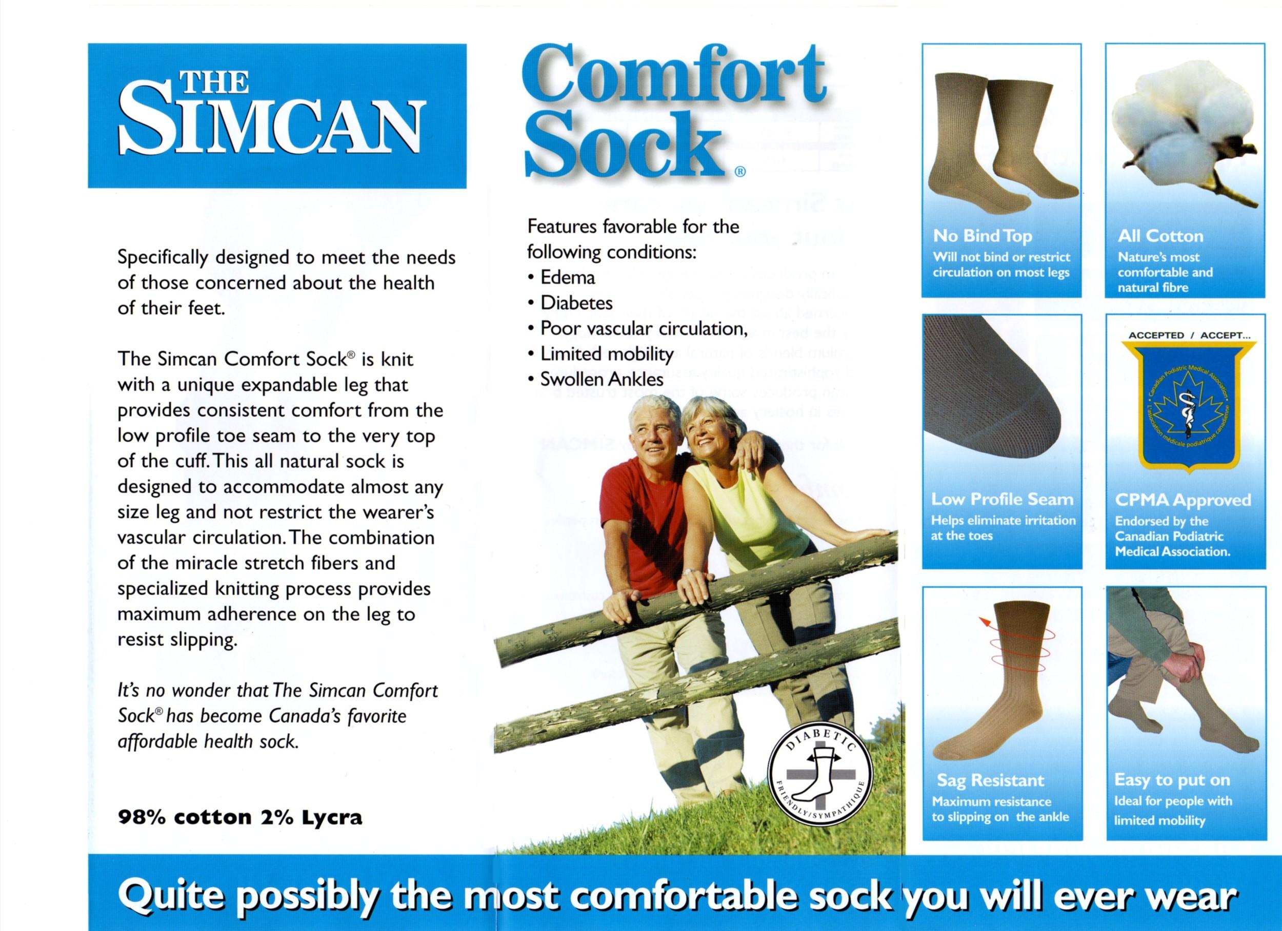 Simcan Comfort Sock Info