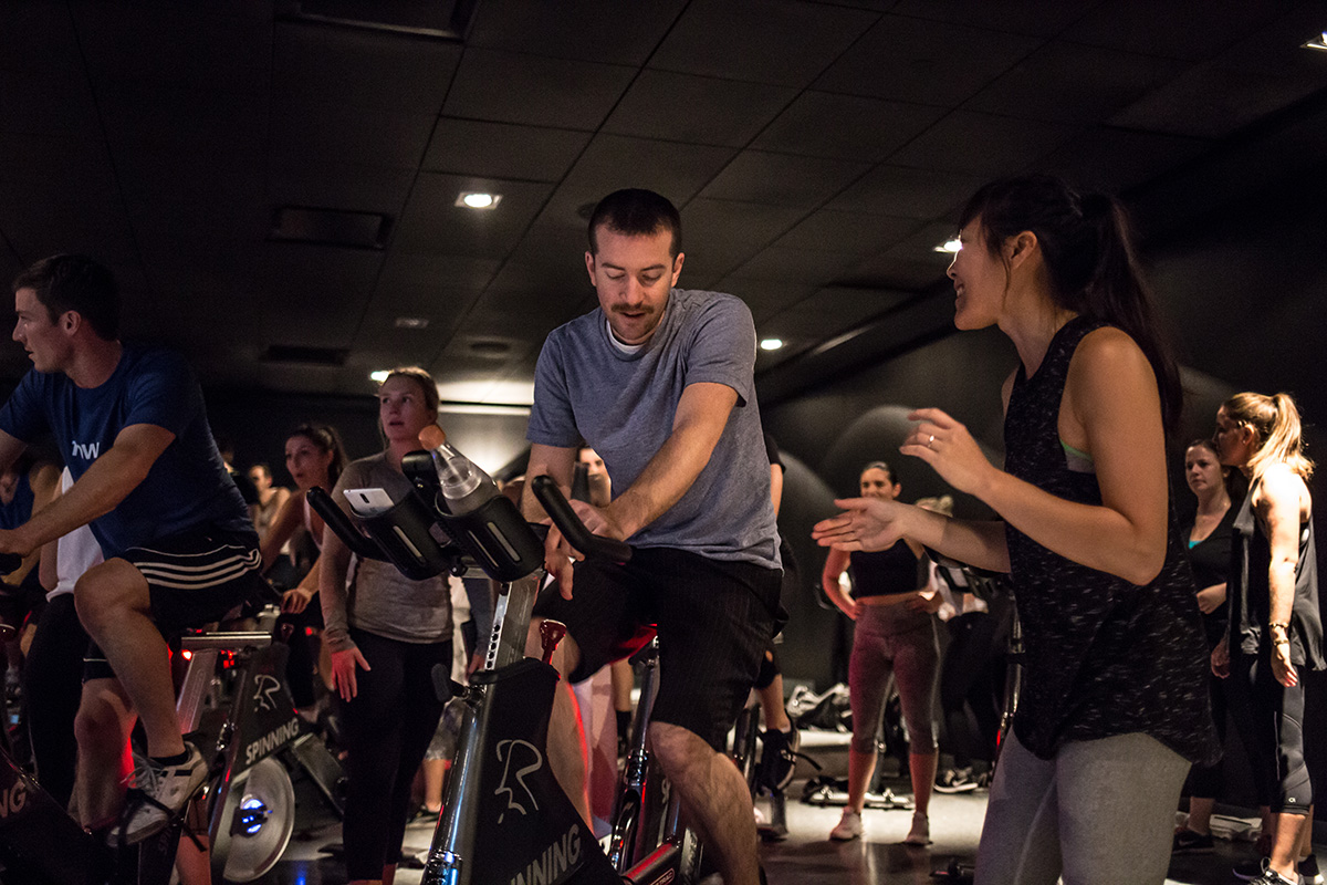 Team Bike Balls sweating it up.