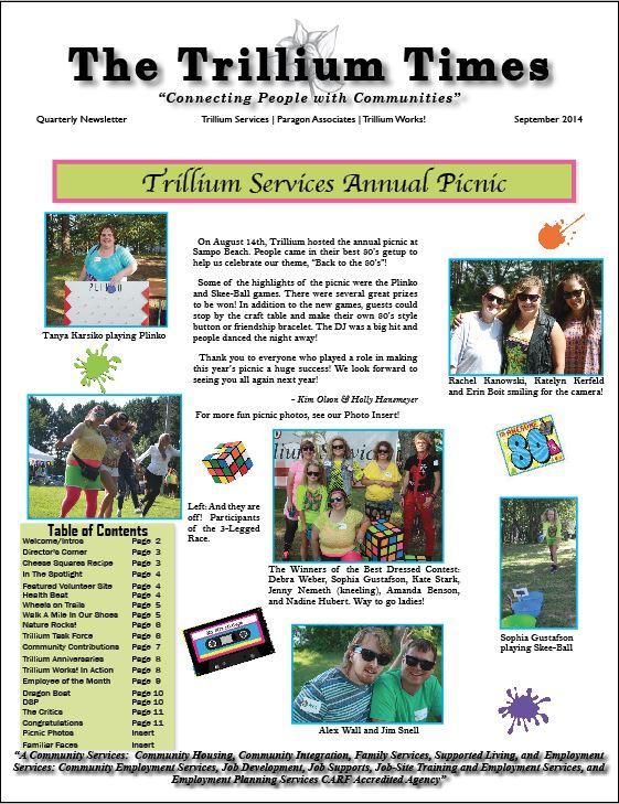 September 2014 Newsletter