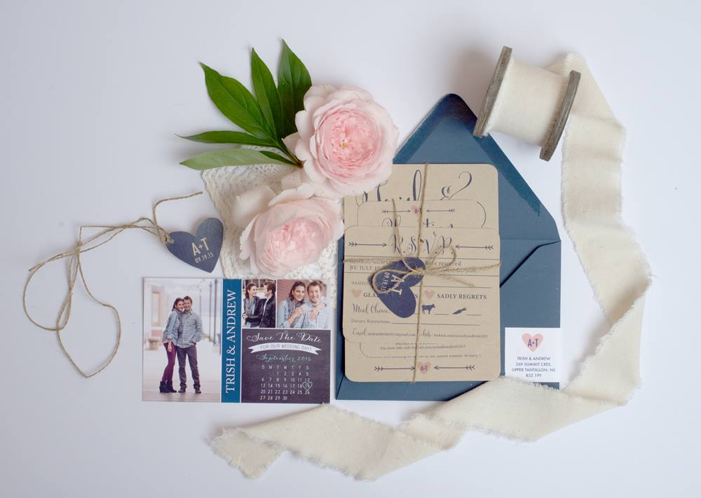 Image of the beautiful invitations courtesy of A Creative Destiny
