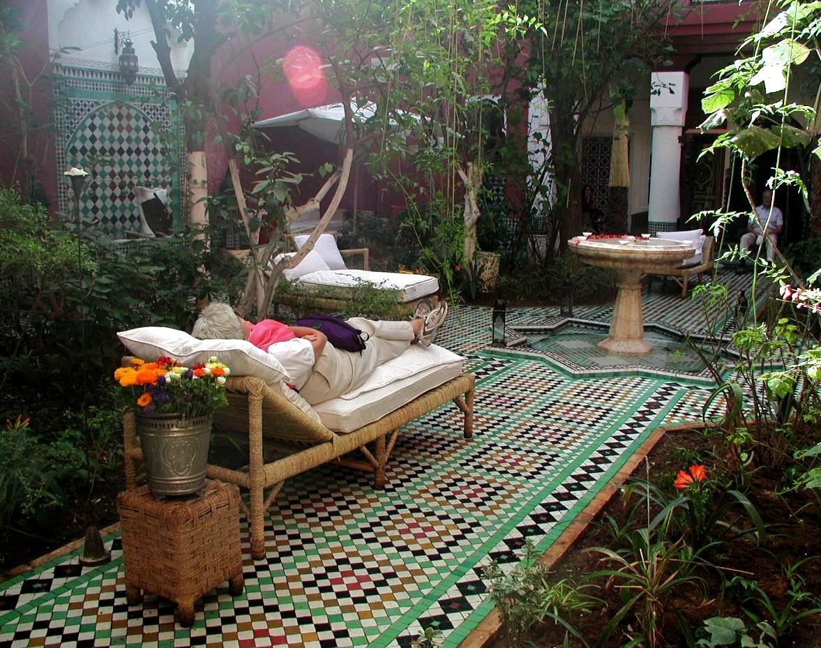 March 16 Betty snoozing at Riad Kaiss.jpg