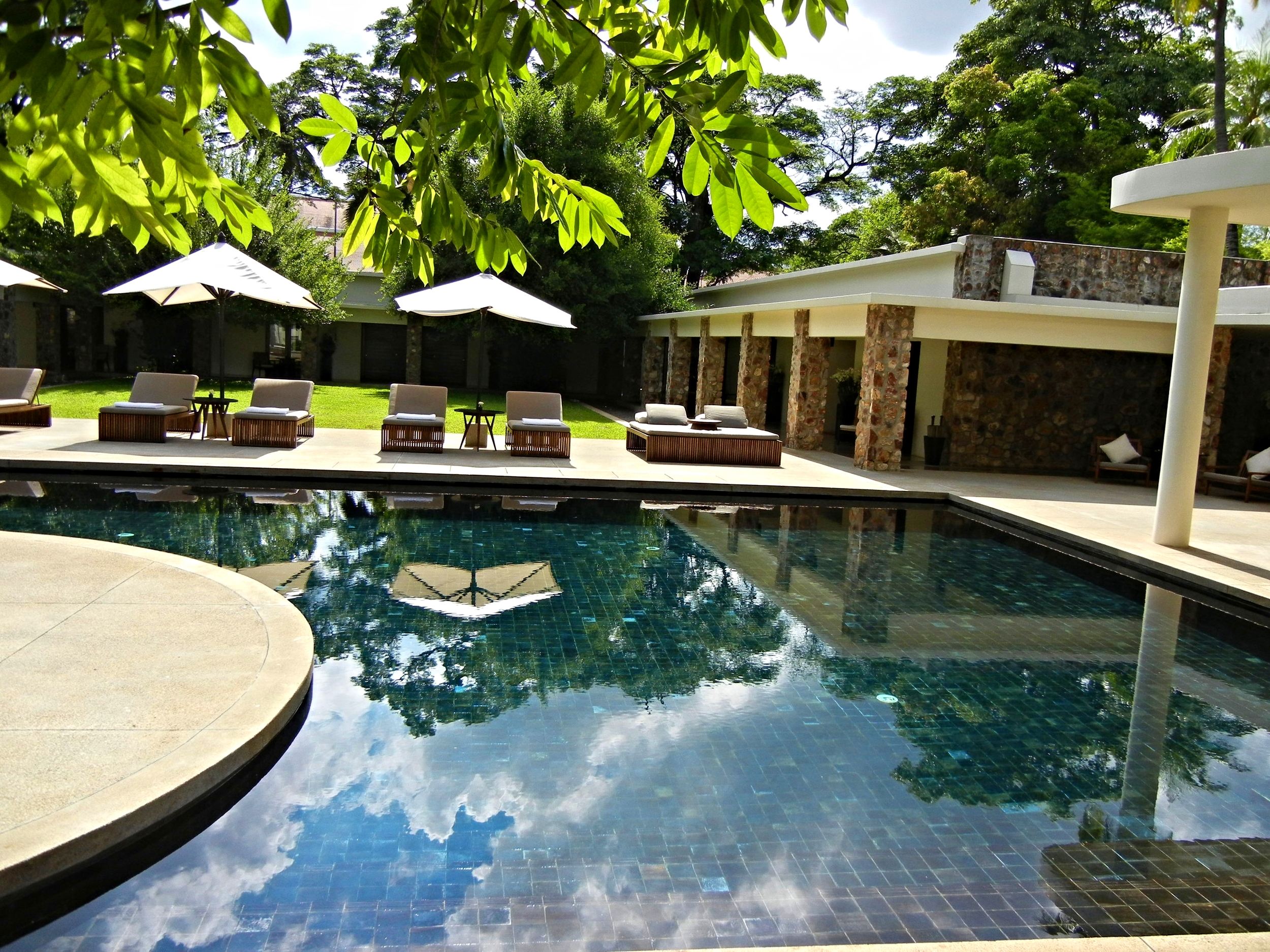 The pool at the Amansara, Siem Reap