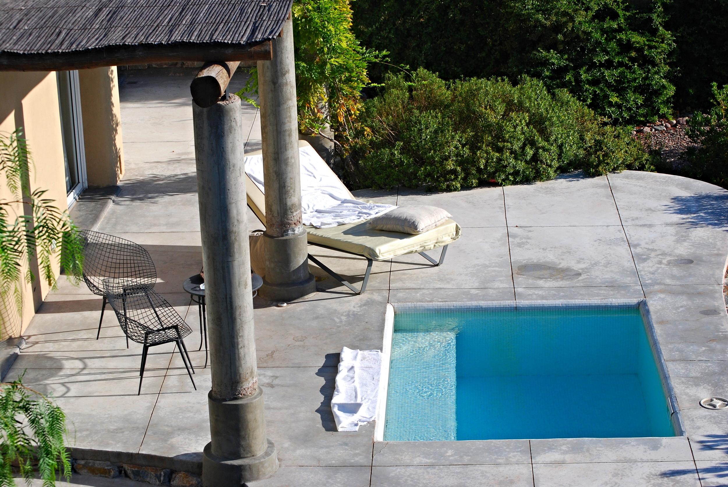 A private plunge pool at Cavas Wine Lodge, Mendoza.
