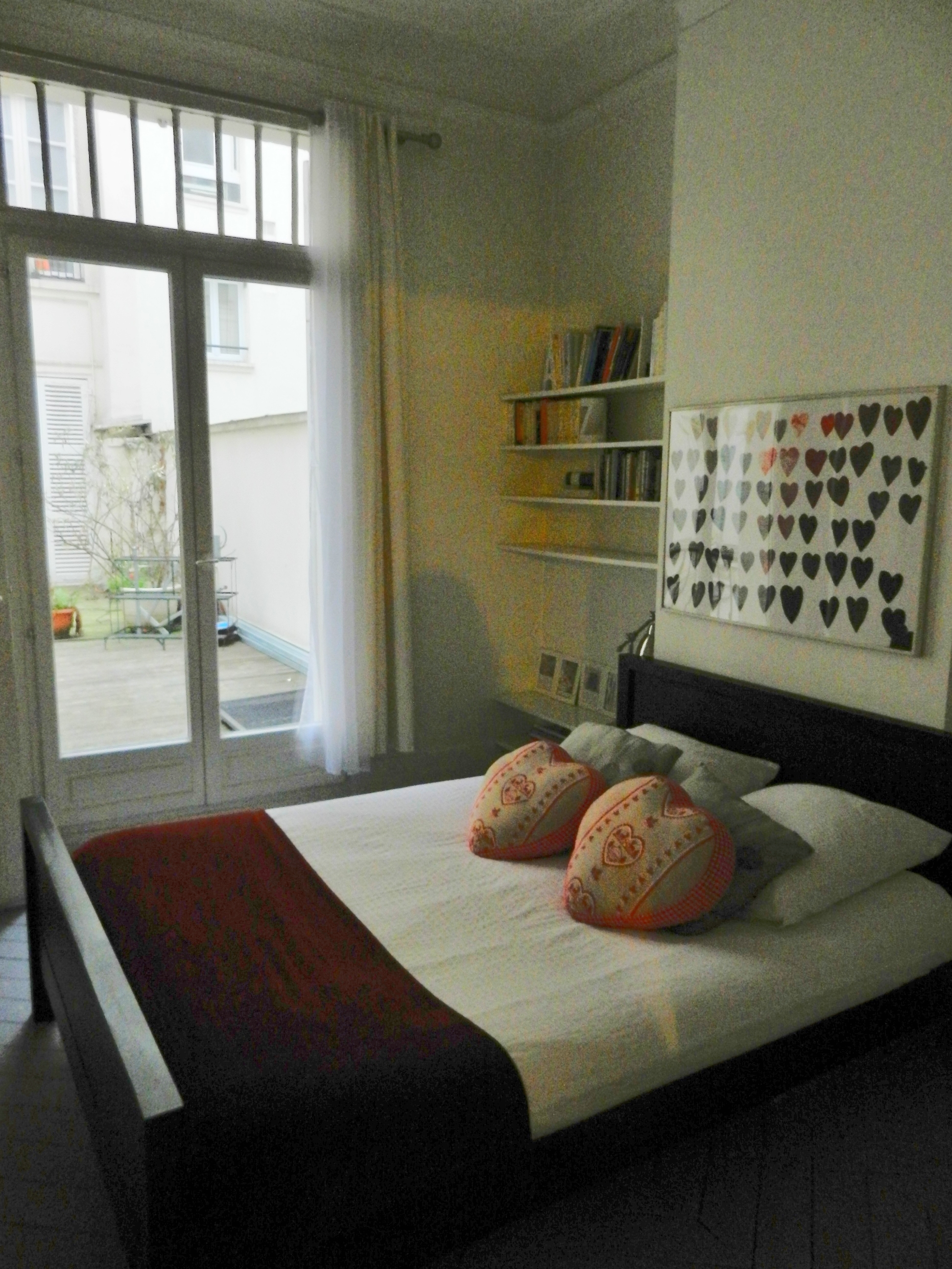 A bedroom ar the Blanc Apartment, Paris