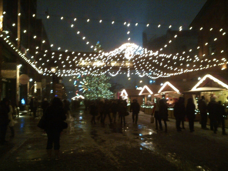 December 14 Snowfall starts in Distillery market.jpg