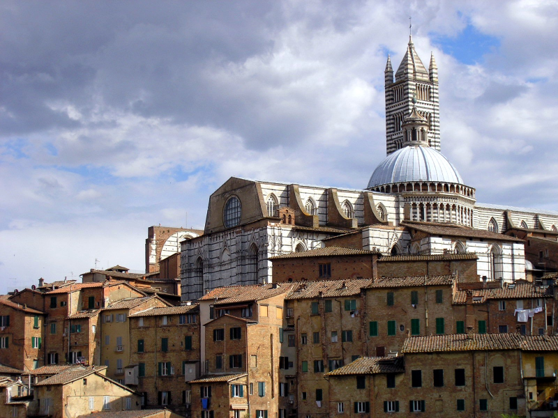 The Duomo in siena on a stormy day - photo credit: Jen Deacon