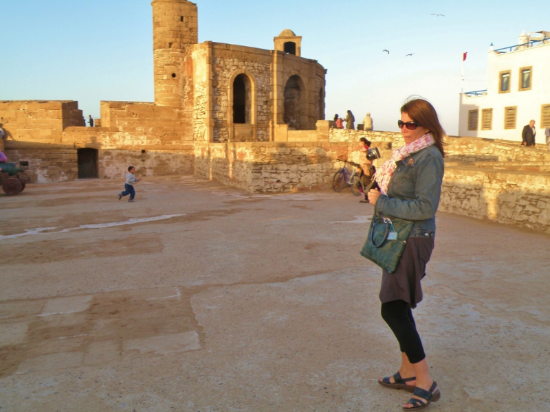 Jen capturing the moment in essaouira