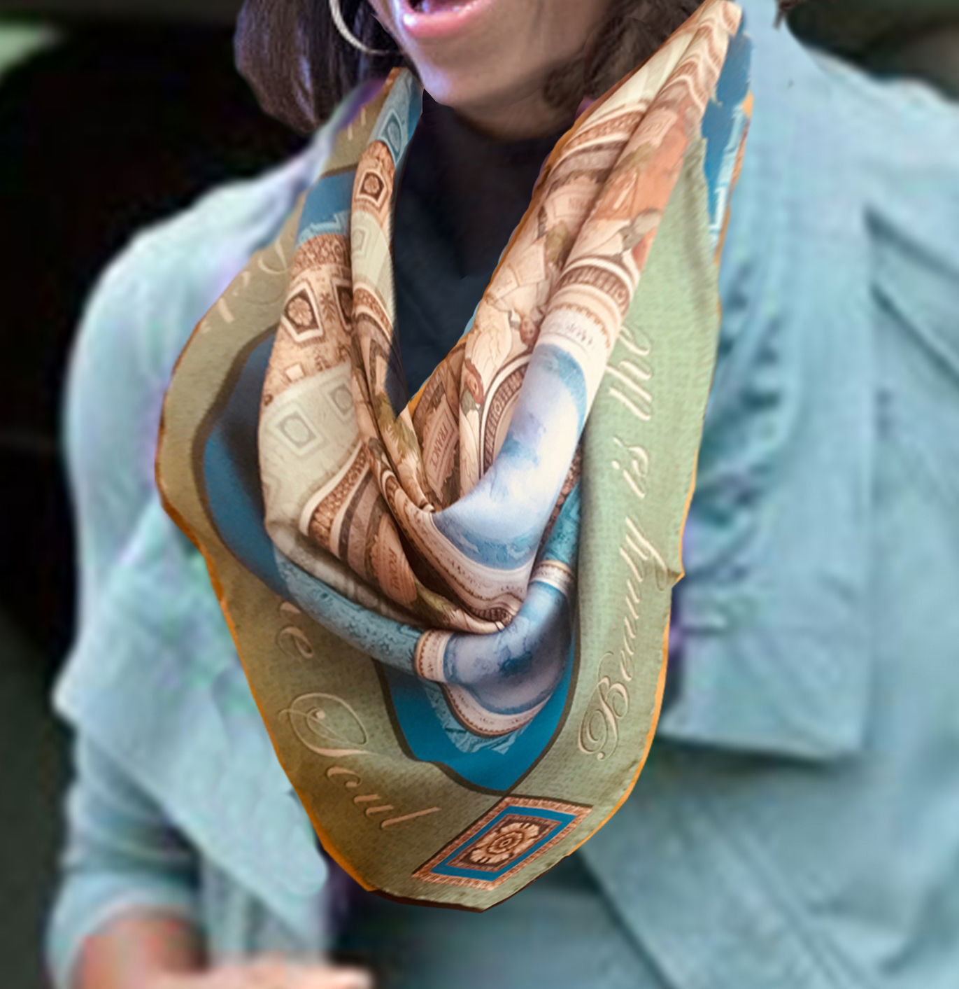 Michelle sm Library of Congress Scarf.jpg
