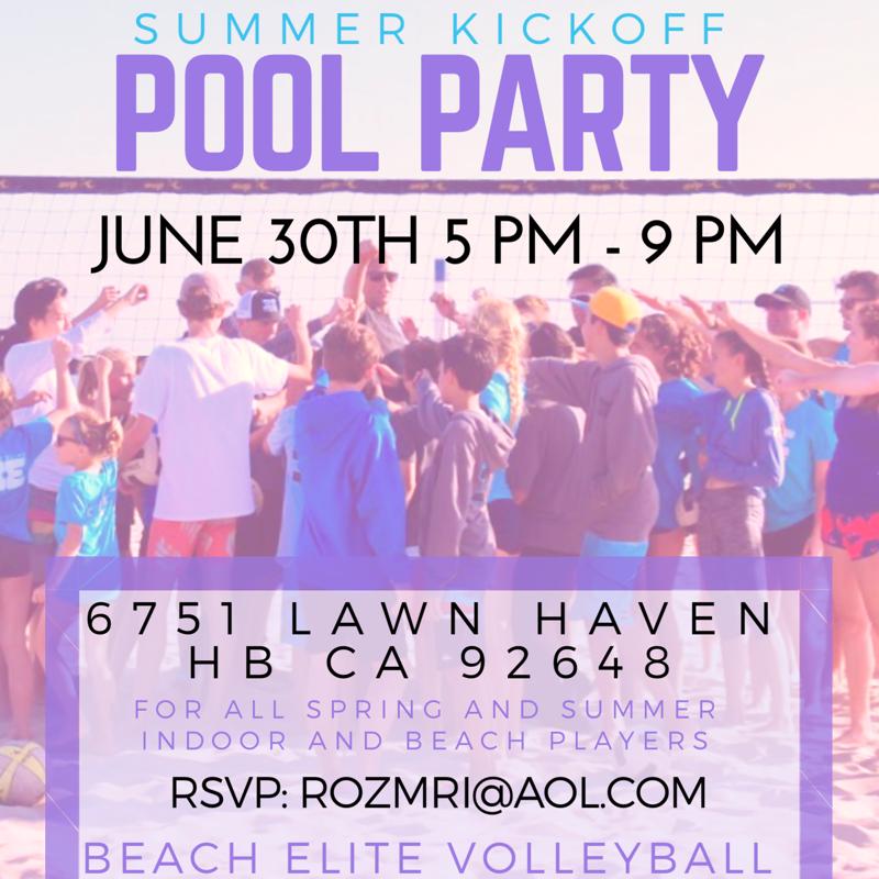Beach Elite Pool Party!