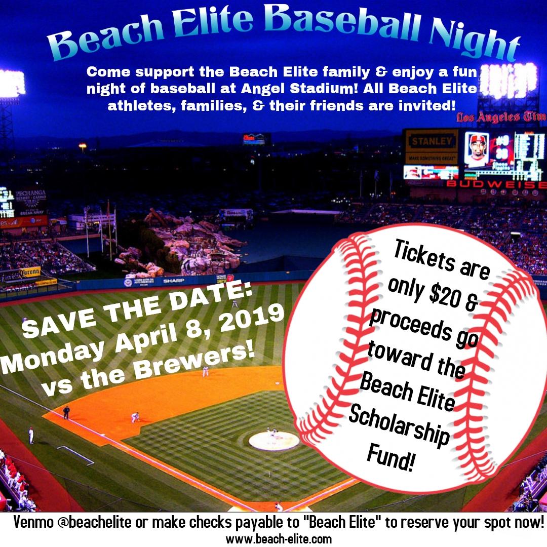 Baseball Game at Angel Stadium - April 8th 2019