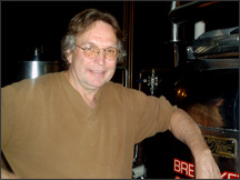 Doug Thayer: Owner/Founder/Brewmaster   Doug has been behind the business since the opening of The Wildflower Café in 1990. He has tried endless beers but keeps coming back to the Nut Brown. He has two grown children, Nicholas and Sara, & two grandchildren. Doug grew up in Pembroke, New York and moved to Watkins Glen in 1986 to found his restaurant and brewery business.