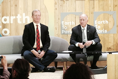 Tom Steyer and Gov. Jerry Brown