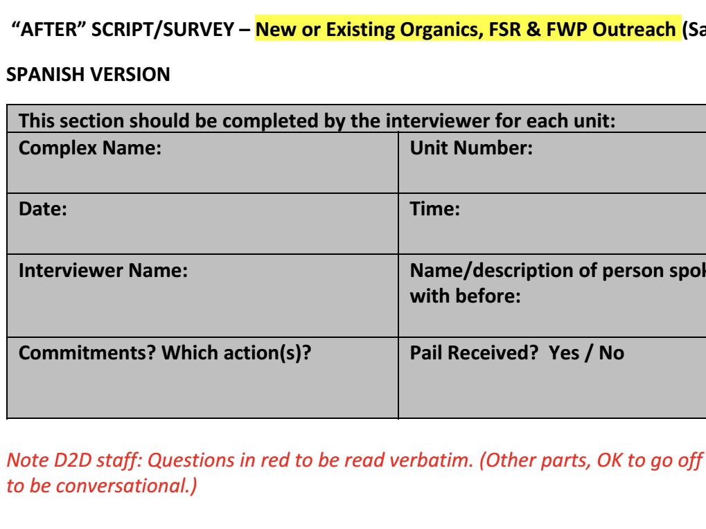 Post-Survey (Spanish)