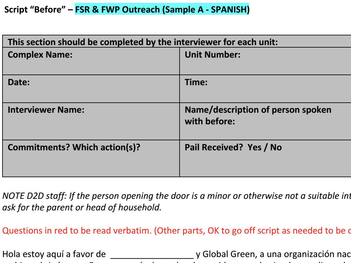 Pre-Survey (Spanish)