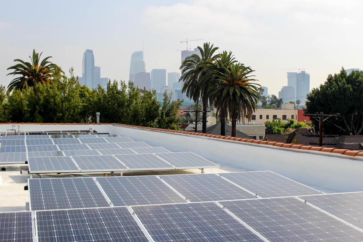 Solar panels on Alegria Affordable Housing Apartments  Photo: Grid Alternatives