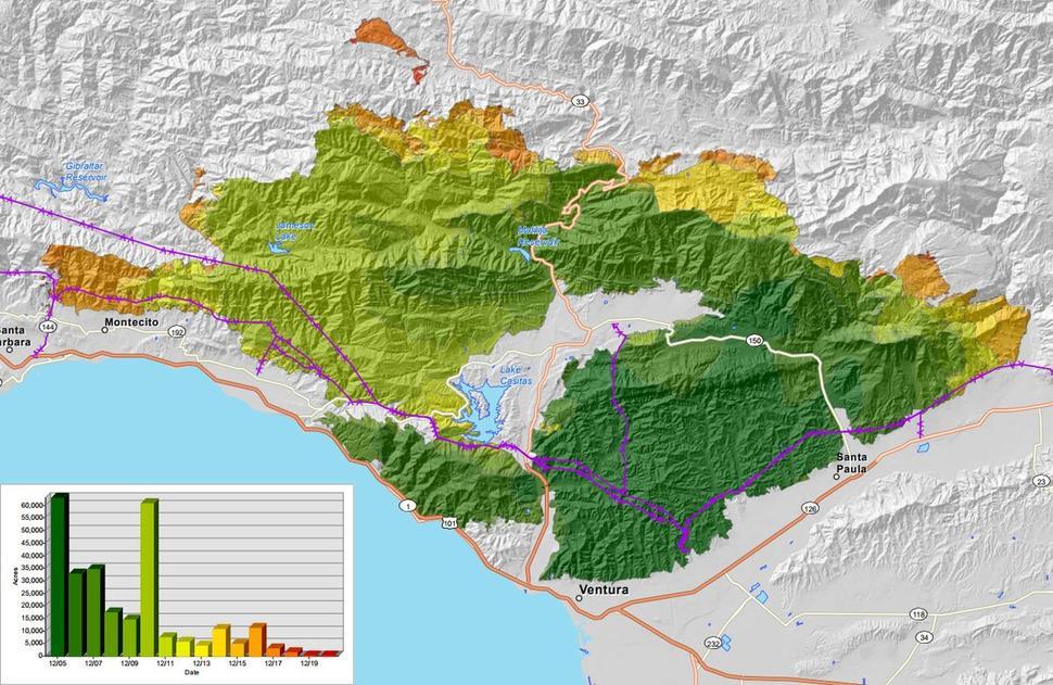 Ventura Thomas Fire Map Thomas Fire Initiative — Global Green