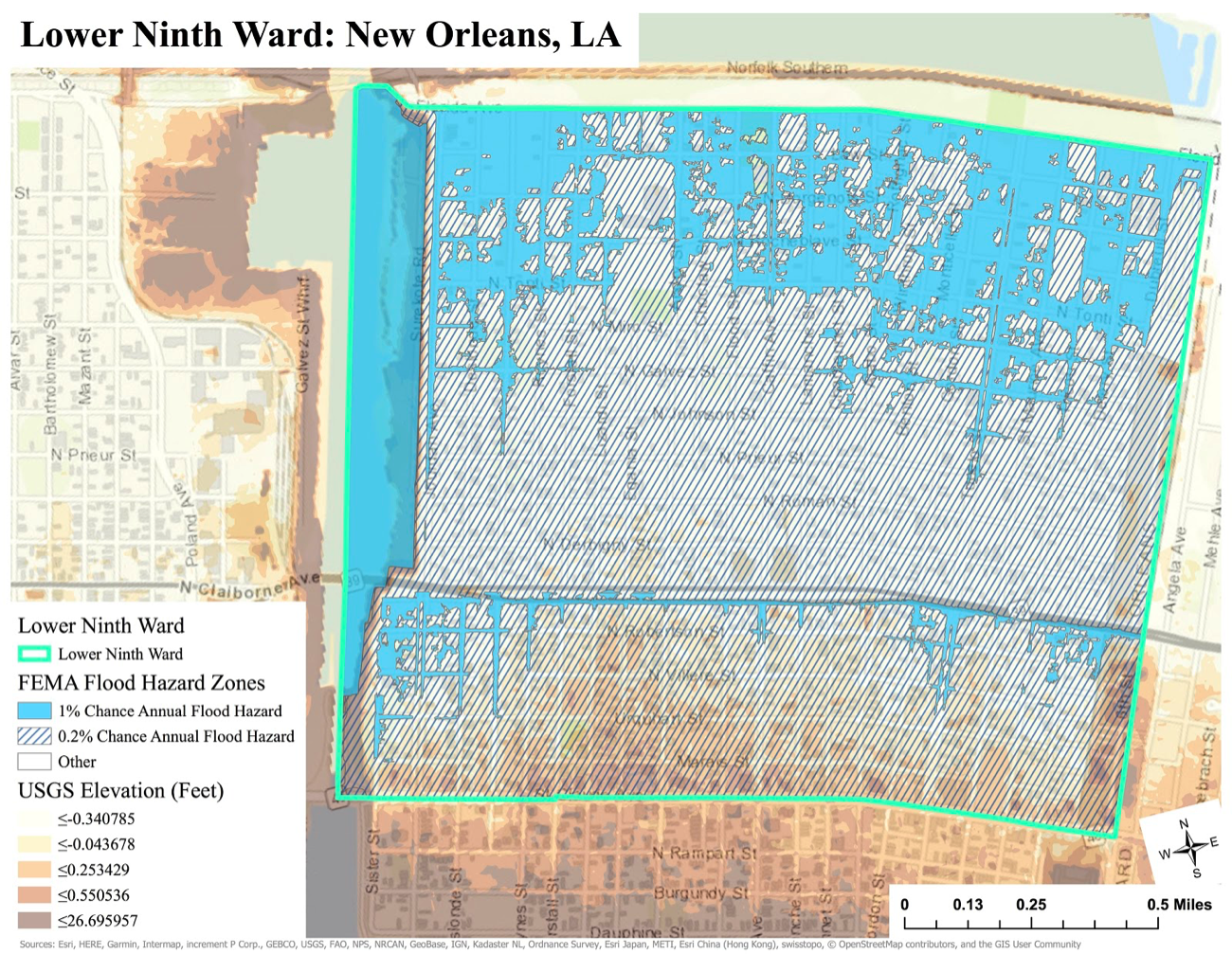 Mapping Flood Risk in New Orleans Using GIS — Global Green