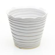 """Libra Pot 5.25"""" x 4.5"""" White"""