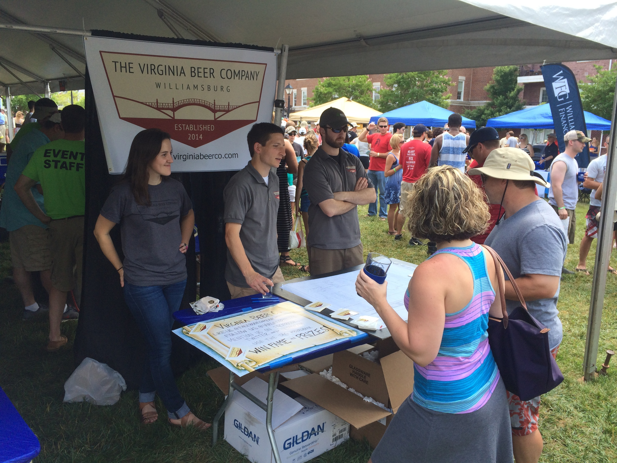 Showing off the future plans at the 2014 New Town Summer Fest!