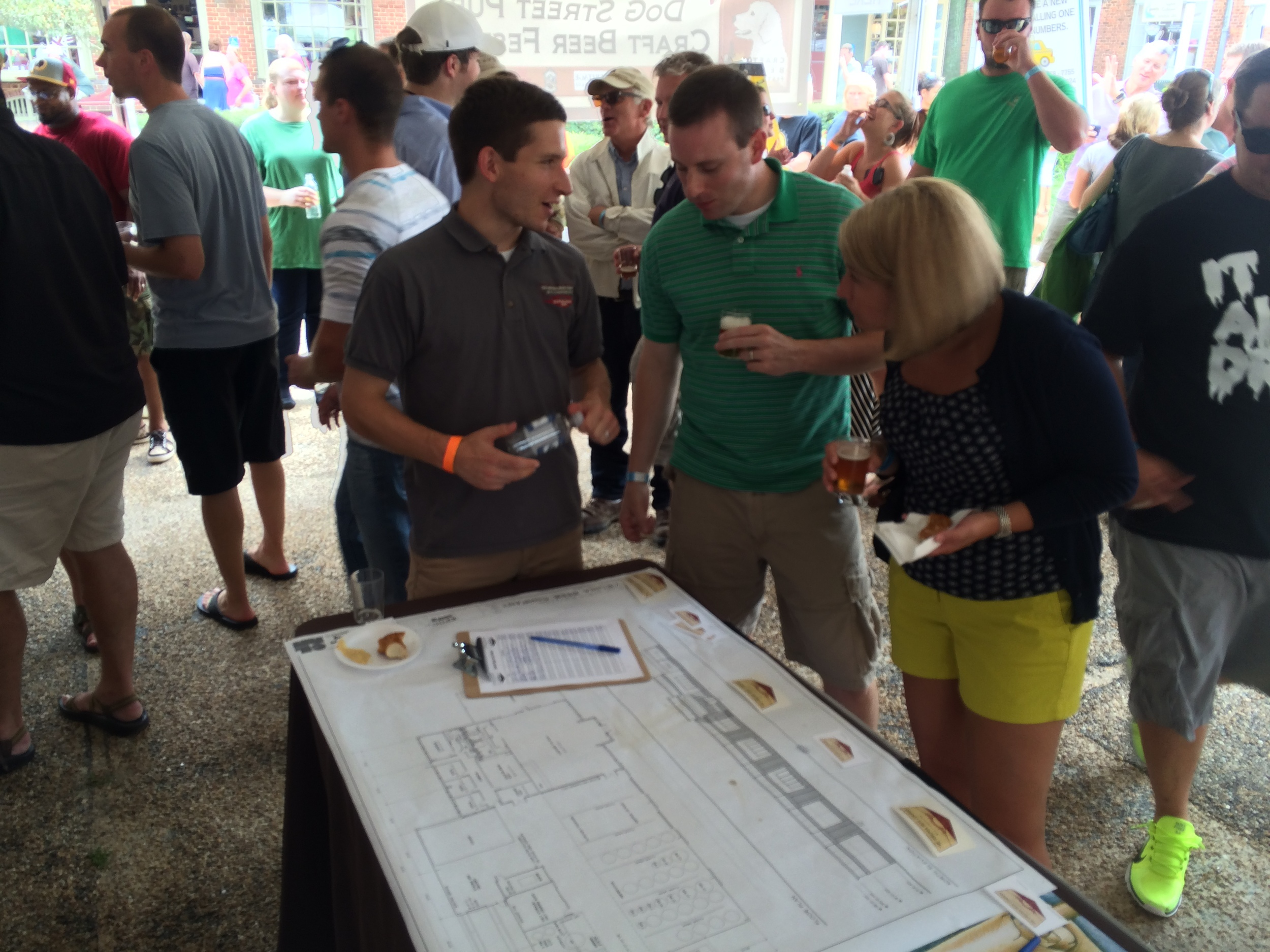 Meeting the crowd at the 2014 DoG Street Pub Craft Beer Festival!